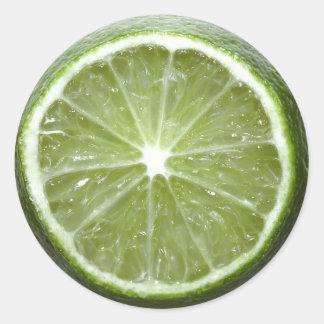 Lime Round Sticker