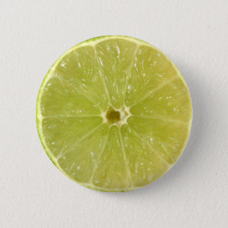Lime Slice 6 Cm Round Badge