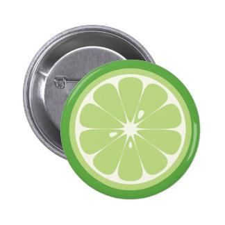 Lime Slice 6 Cm Round Badge