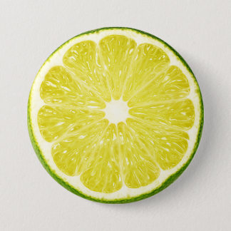 Lime Slice 7.5 Cm Round Badge