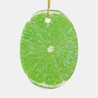 lime slice ceramic oval decoration