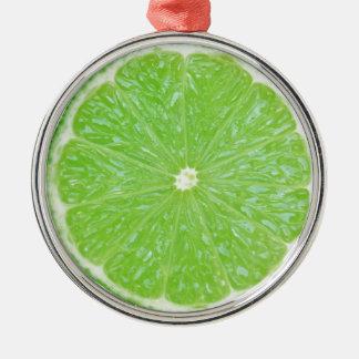 lime slice christmas ornament