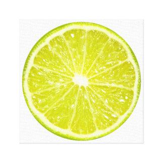 Lime Slice Fruit Art Canvas Print