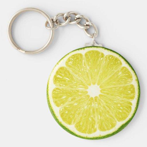 Lime Slice Key Chain