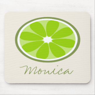 Lime Slice Personalized Mousepad