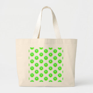 Lime Slice Polka Dots Pattern Tote Bags