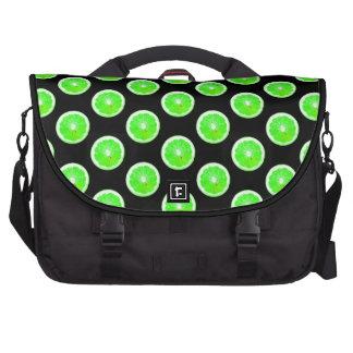 Lime Slice Polka Dots Pattern Commuter Bag