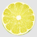 Lime Slice Round Stickers