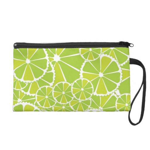 Lime slices wristlet purses