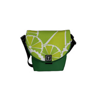 Lime slices commuter bags