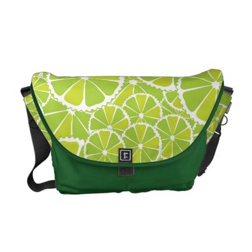 Lime slices messenger bag