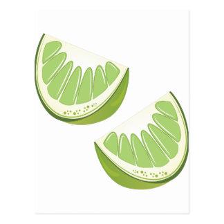 Lime Slices Postcard