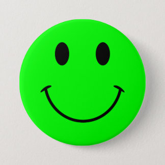 Lime Smiley Face Button