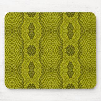 Lime Snakeskin Mousepads
