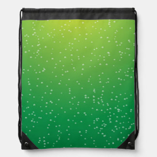 Lime Soda with Tiny Bubbles Background Art Drawstring Bags