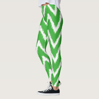 Lime Southern Cottage Chevrons Leggings