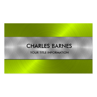Lime Stainless Steel Business Card