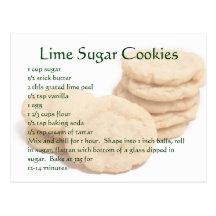 Lime Sugar Cookies Postcards
