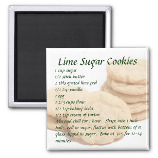 Lime Sugar Cookies Square Magnet