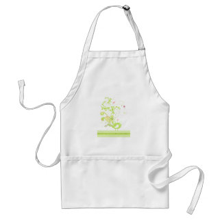lime swirly bird vector adult apron