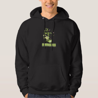 lime swirly bird vector hooded pullovers