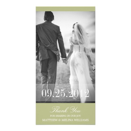 LIME THANK YOU | WEDDING THANK YOU CARD CUSTOMIZED PHOTO CARD