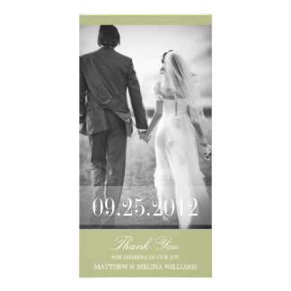 LIME THANK YOU | WEDDING THANK YOU CARD PICTURE CARD