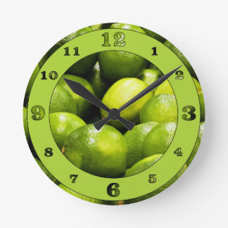 Lime Time Round Clock