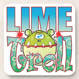 Lime Troll Drink Coaster