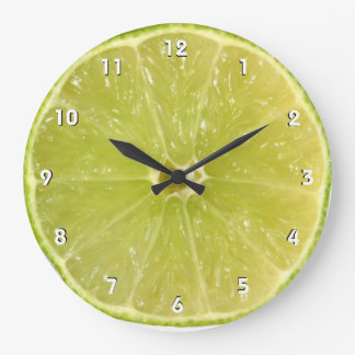 Lime Wall Clock with numbers