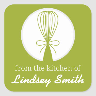 Lime Whisk Silhouette Kitchen Labels