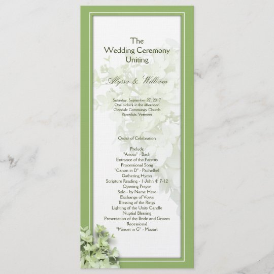 Easy Wedding Program Template from rlv.zcache.co.uk