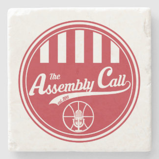 Limestone Coaster with Assembly Call logo Stone Beverage Coaster