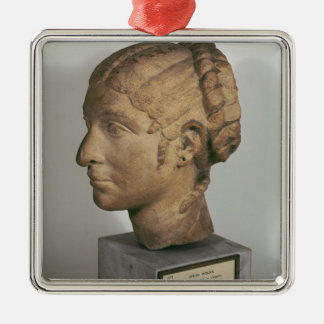 Limestone head of a Woman Christmas Ornament