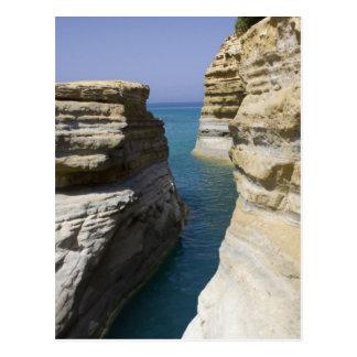 Limestone Rocks Rocks On Corfu Island Postcard