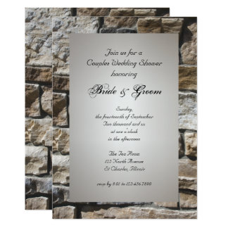 Limestones Couples Wedding Shower Invitation