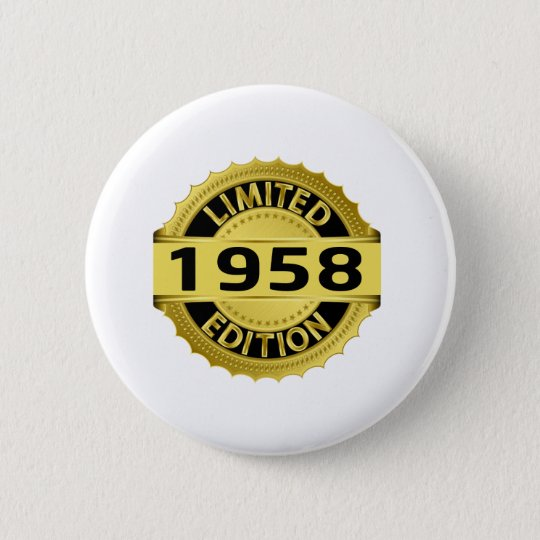 Limited 1958 Edition 6 Cm Round Badge