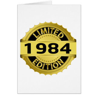 Limited 1984 Edition Greeting Card