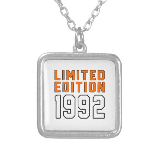 Limited Edition 23 Birthday Designs Silver Plated Necklace