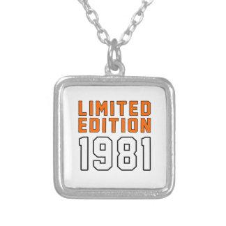 Limited Edition 34 Birthday Designs Pendant