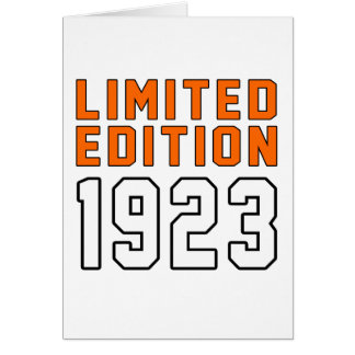 Limited Edition 92 Birthday Designs Cards