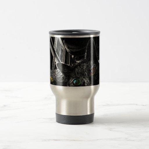 Limited Edition Alien Monkey Cat Travel Mug