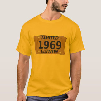 Limited Edition Birthday Vanity License Plate T-Shirt