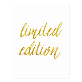Limited Edition Quote Faux Gold Foil Quotes Humor Postcard