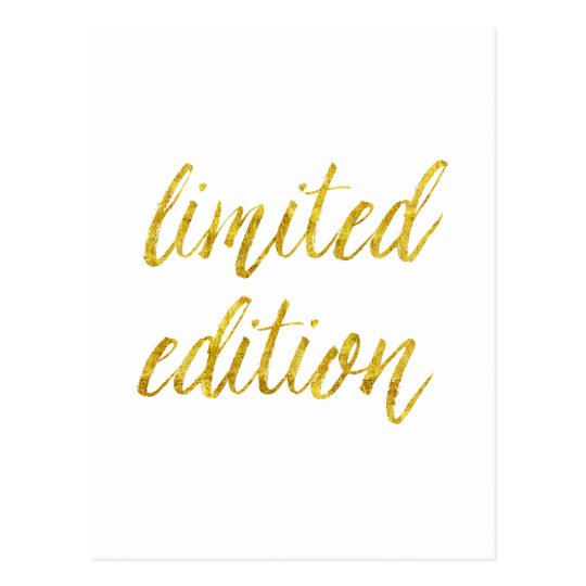 Limited Edition Quote Faux Gold Foil Quotes Humour