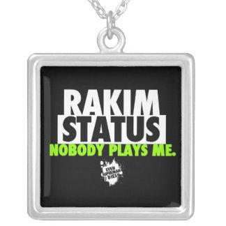 Limited Edition Rakim Status Chain Square Pendant Necklace