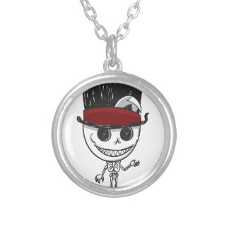 Limited Edition: Skelly Silver Plated Necklace
