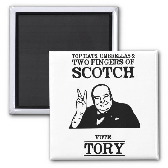 Limited Edition Vote Tory Square Magnet