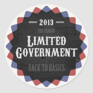 Limited Government 2013 Round Sticker
