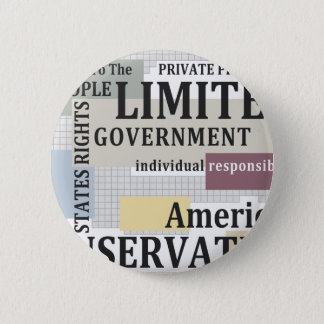 Limited Government 6 Cm Round Badge
